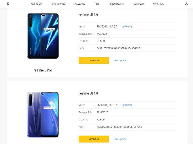 Update Android 10 realme